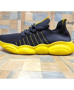 buy best Yellow Black runnin Shoes for Men at low price in pakistan IBS04 (1)