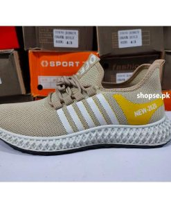 buy yellow stripe casual fashion men shoes by Shopse.pk online at best price in pakistan (2) IBS02