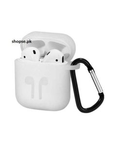 Buy Best Airpods Case Cover and Skin for Apple AirPods with Carabiner Keychain Belt Clip white color at Best Price in Pakistan by Shopse (3)
