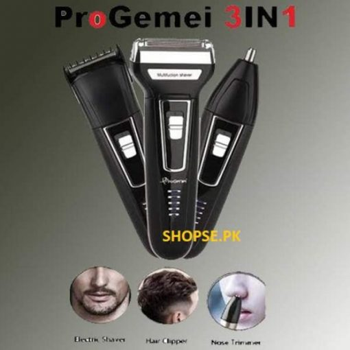 Gemei 573 - 3 In1 Mens Hair Trimmer Grooming Kit price in Pakistan BY SHOPSE (1)
