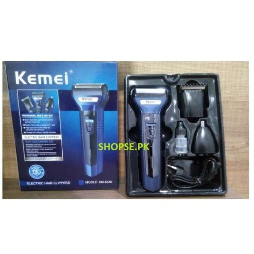 Kemei KM-6330 3 in 1 Hair Trimmer Super Grooming Kit AT LOW PRICE BY SHOPSE.PK IN pAKISTAN (1)