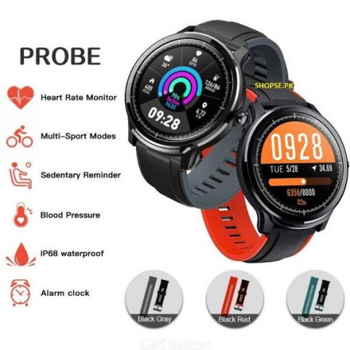 Kospet Probe Smart Watch Heart Rate Blood Pressure Monitor IP68 Round Screen Oxygen Sleep Sport Fitness Tracker For Men AT BEST PRICE BY SHOPSE.PK IN pAKISTAN (1)