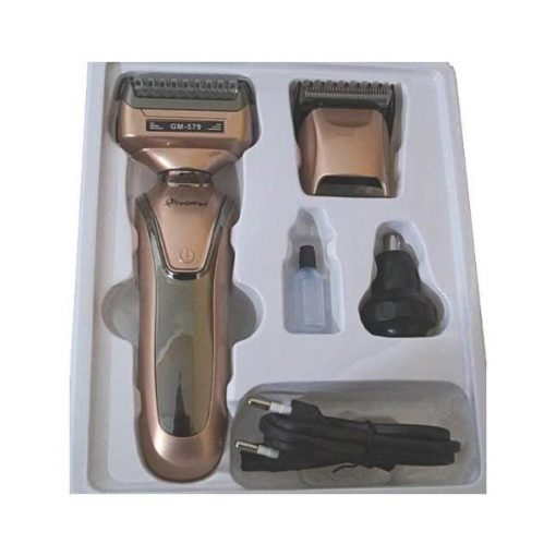 buy Gemei gm-579 3 in 1 Shaver Hair Clipper Razor Men Nose Ear Hair Trimmer Grooming Kit at best price by shopse.pk in Pakistan (1)