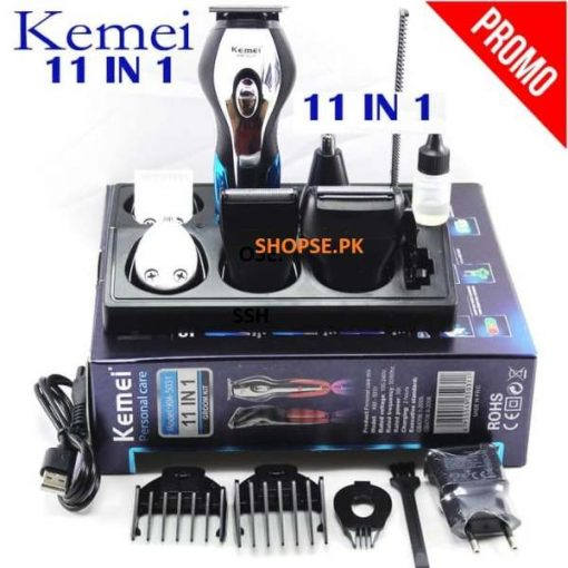 buy best Kemei (KM-5031) 11-in-1 Hair trimmer Super Grooming Kit at low price by shopse.pk in Pakistan (1)