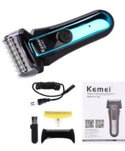 buy hair trimmer kemei km-2023 Rechargeable Shaver For Men Black for men in Pakistan (1)