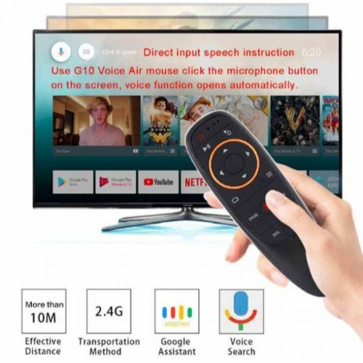G10 s Air Mouse Voice Control 2.4GHz Wireless With Gyro Sensing Game Voice control Smart Remote Control for Android TV BOx (1) online Shopping at low price by Shopse.pk in Pakistan