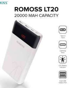 Romoss LT20 20000mAh Dual Output and Triple Input LED Display Power Bank (White) price in pakistan by shopse (2)
