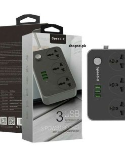 Shopse.pk offers a best Speed X Power Universal Travel 3 Socket and 3 USB Power Socket price in Pakistan with fast shipping in all the Main cities Including Lahore, Karachi, Rawalpindi, Islamabad, Sialkot