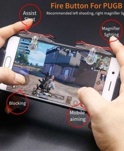 Buy Best quality PUBG Triggers E9 Mobile Game Fire Button at best price online by shopse.pk in Pakistan