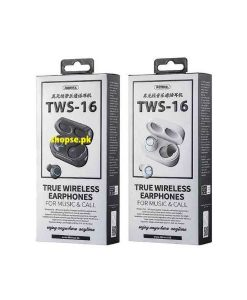 Buy Best 2020 New Model Remax TWS-16 True Wireless Bluetooth Earbuds With Charging Box - Black Black High Quality at Best Price in Pakistan by Shopse (2)