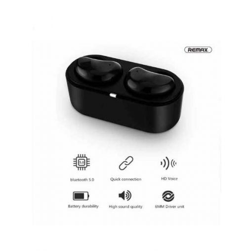 Buy Best 2020 New Model Remax TWS-5 True Wireless Stereo Earbuds With Charging Box - Black High Quality at Best Price in Pakistan by Shopse (2)
