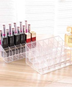 Buy 24 Grid Plastic Lipstick Transparent Jewelry Storage Box at best price online by Shopse.pk in pakistan