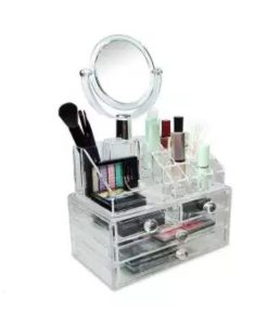 Buy All in One Makeup Organizer Box with Mirror at best price online by Shopse.pk in pakistan