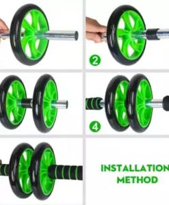 Buy Dual Abdominal Fitness AB Wheel Roller Exercise Equipment at best price online by Shopse.pk in pakistan