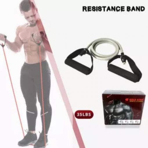 Buy Exercise Resistance Band 35 LBS Strength, Single Tube, Complete Workout at best price online by Shopse.pk in pakistan