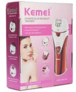 Buy Km-1107 3 In 1 Rechargeable Electric Epilator For Women Lady Shaving Corn Remover at best price online by Shopse.pk in pakistan