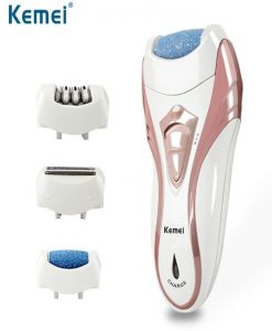 Buy Km-3010 Rechargeable 3 In 1 Beauty Tools Kit For Women With Epilator, Callous Remover & Shave at best price online by Shopse.pk in pakistan