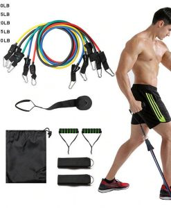 Buy Power Exercise Resistance Exercise Band 5 in 1, Fitness Band set of 11 Piece at best price online by Shopse.pk in pakistan