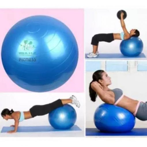 Buy Yoga Anti-Burst Fitness Exercise Gym Ball with Pump - 65cm MULTI COLOUR at best price online by Shopse.pk in pakistan (2)