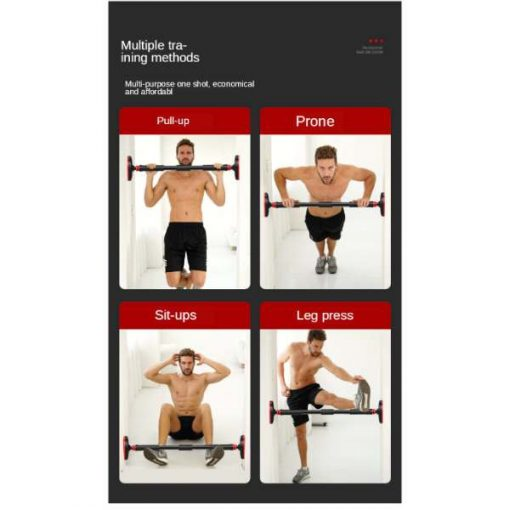 Buy Best Wall Mounted Push up - Pull Up Bar 90-130 Cm Adjustable to Door Horizontal Bar Steel Pull Up Arm Training Sit Up Bar Fitness Equipment at Low Price online by Shopse (1)