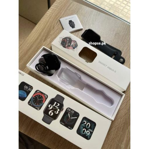 Buy HW22 Smart Watch 44mm Size SR 6 Watch Men Bluetooth Call 1.75 Inch Screen Rotation Function at best price online in Pakistan by Shopse (1)