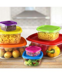 Buy New Pack Of 7 Rainbow Plastic Food Container - Multi-Color at best price online by Shopse.pk in Pakistan (1)