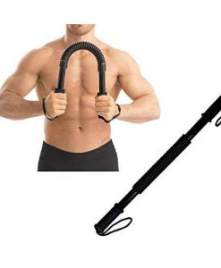 Buy Best 40KG Power Twister Spring Arm Rod Spring Exerciser Bar Arm Muscular Strength - Black at Sale Price online in Pakistan by Shopse.pk