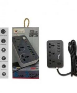 Buy Best VIAKING Extension 300 CMS 3 way Extension Board with 6 USB Ports For Fast Charge your Phone at Sale Price online in Pakistan by Shopse.pk
