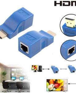 Buy Best 1080P HDMI Extender to RJ45 Over Cat 5e6 Network LAN Ethernet Adapter BlueBlack at Sale Price in Pakistan by Shopse.pk
